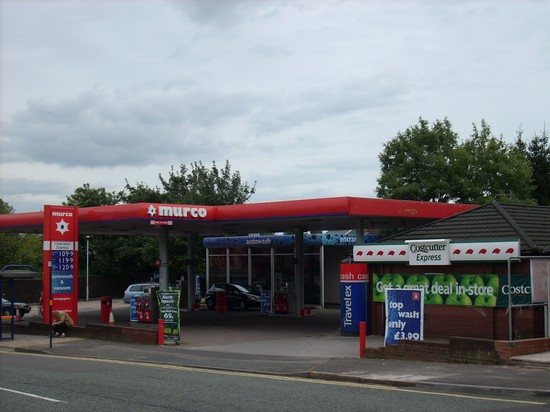 The Murco petrol station on Pershore Road - formerly the Jet garage