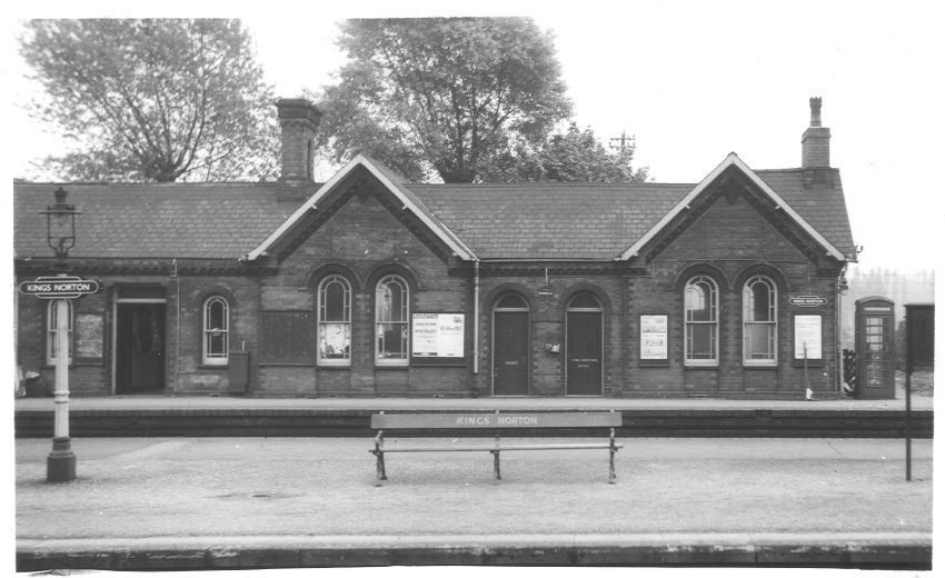 1960: looking across the island platform from the up slow to the down slow where the main station building was sited.