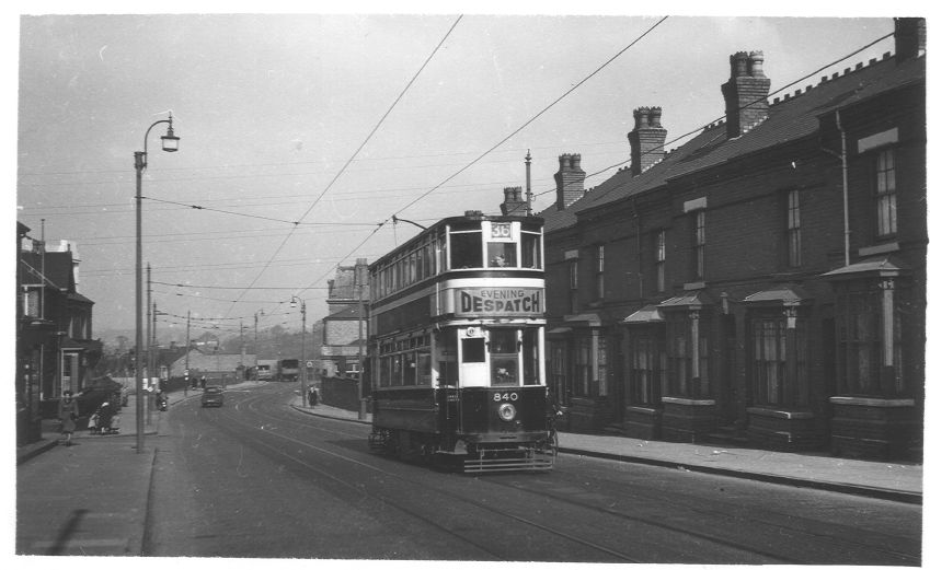 Tram coming up Pershore Road from the Breedon Cross