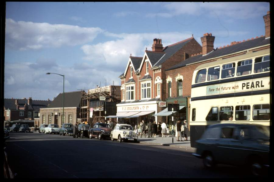 September 1962: a different shot of the supermarket under construction, also showing the post office.