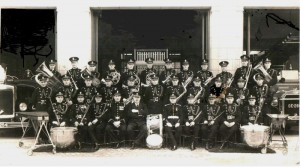 Cotteridge Fire Station Band, about 1930