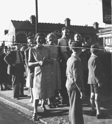 Crowds watching Bees in Watford Road
