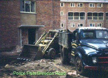 Police flats on Breedon Road