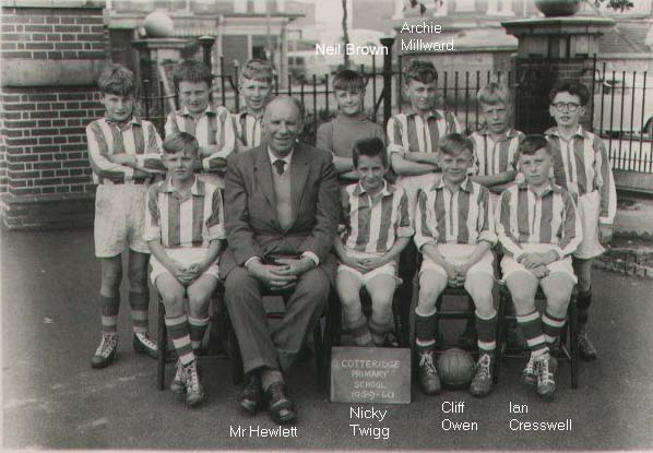 Cotteridge Primary School football team, 1959-60