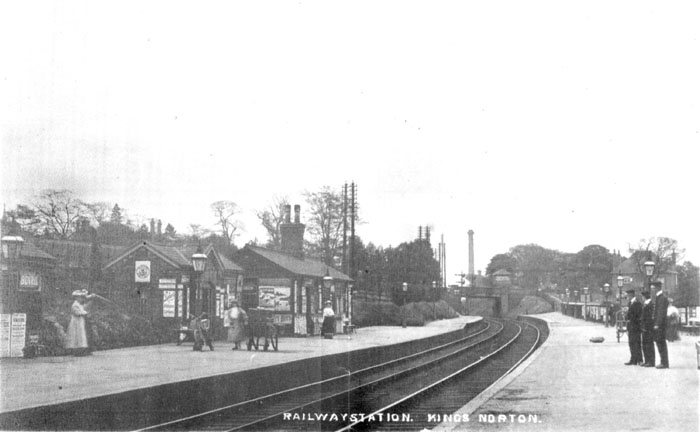 Kings Norton Station in Edwardian postcard