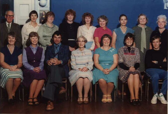 Cotteridge School staff in the late seventies / early eighties