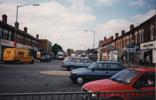 Cotteridge roundabout looking towards Selly Oak, 1997