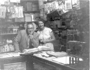 Mr and Mrs Winscott - Newsagents, Watford Road 1951